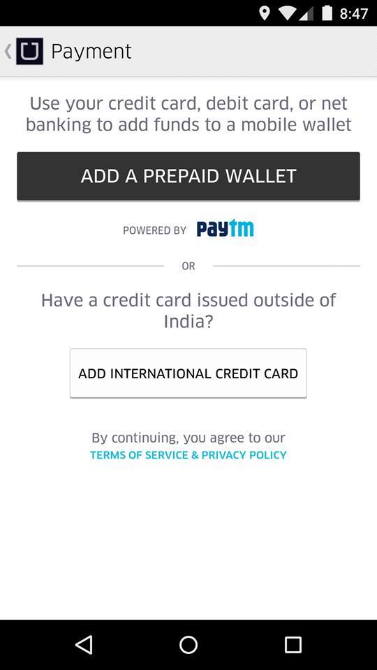 uber how to change payment card
